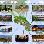 Map of Costa Rica Best Yoga Studios and Retreats