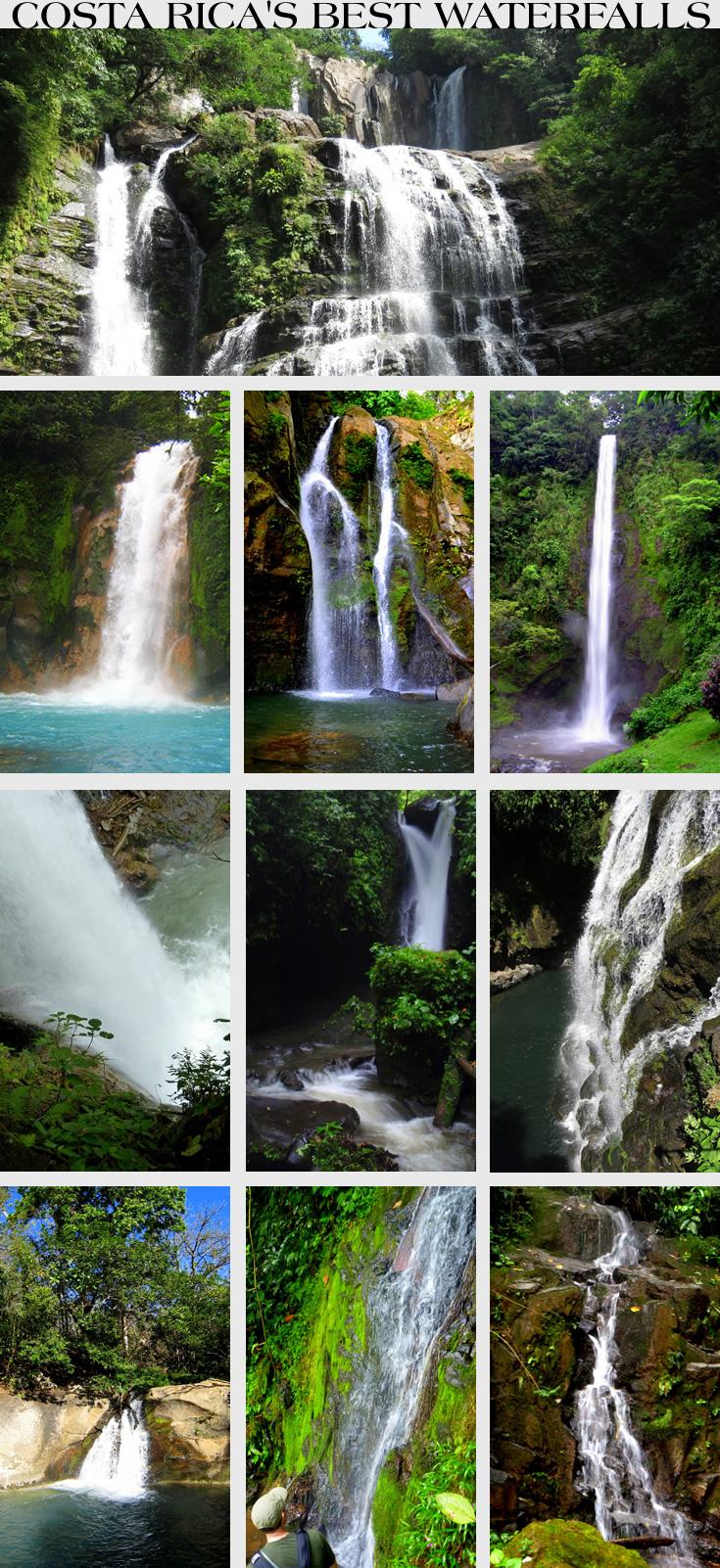 Costa Rica Top Ten Waterfalls