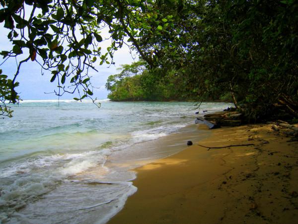 No-name beach in Gandoca Manzanillo Wildlife Refuge on the southern Caribbean