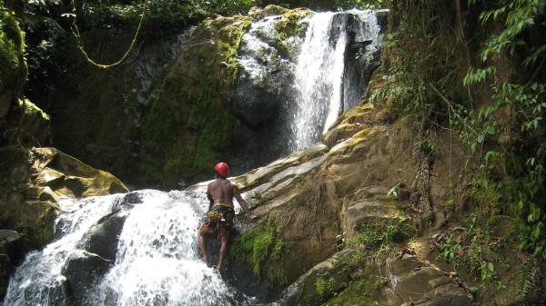 Canyoning Quebrada Gata Waterfalls