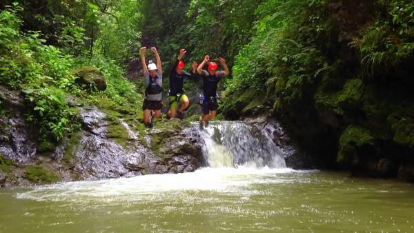 Jumping canyon waterfalls