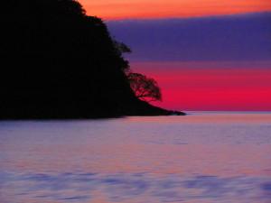 Setting sun at Playa Cuajiniquil