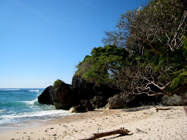 The secret beach in Cabo Blanco