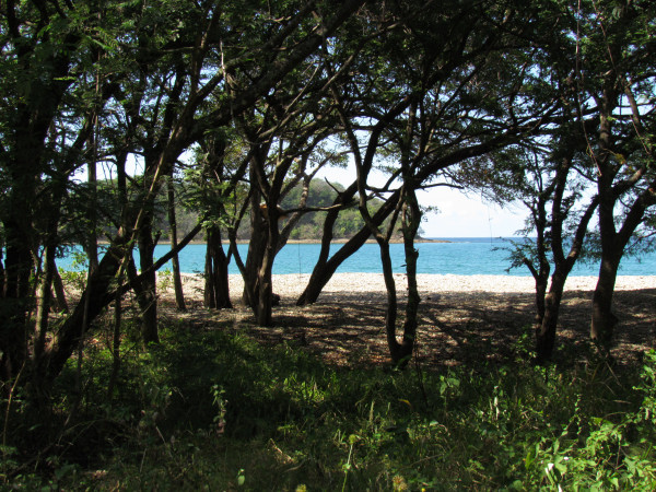 Smooth stone beach at Playa el Hachal