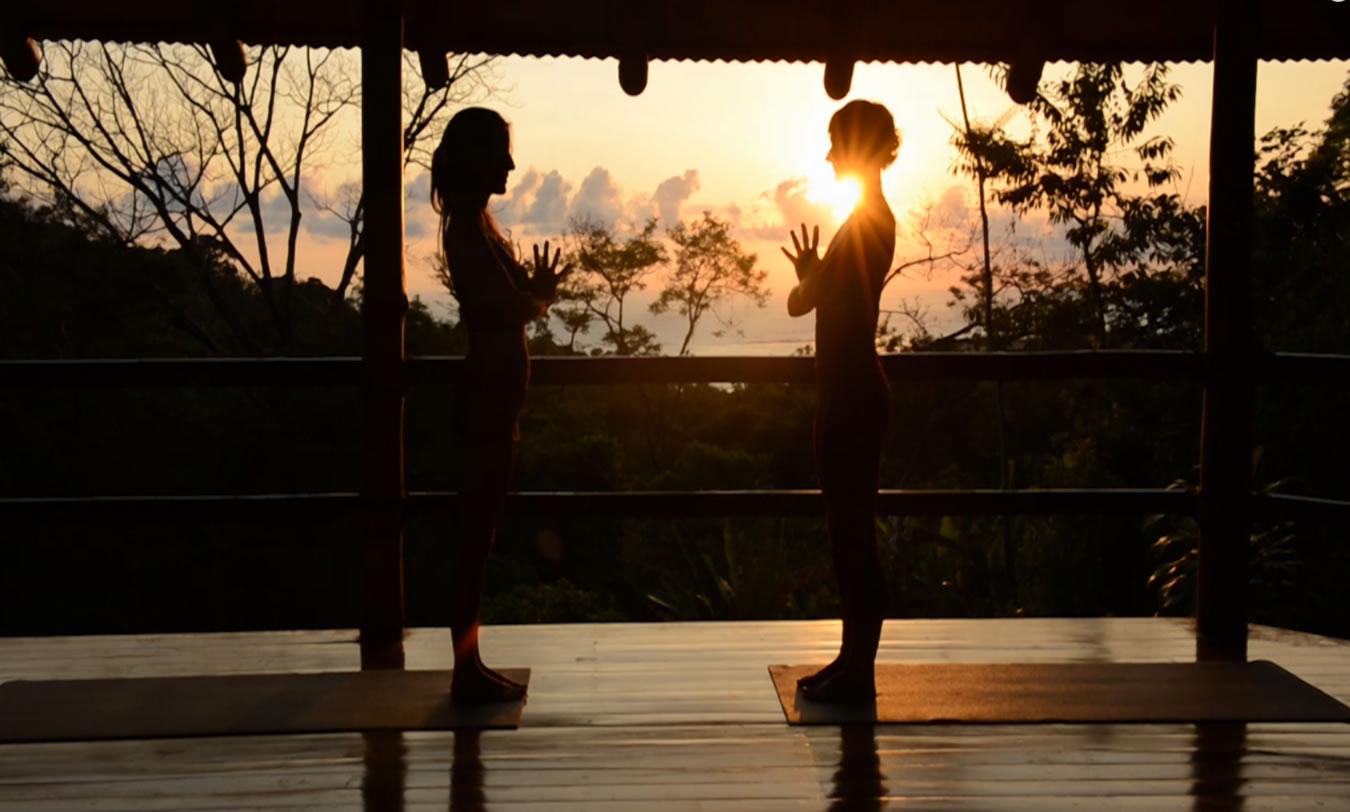 Selva Armonia Yoga Retreat is on a hillside overlooking Playa Ballena