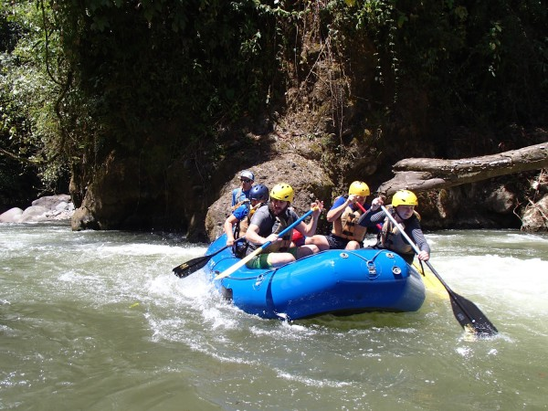 Whitewater rafting at Arenal Volcano