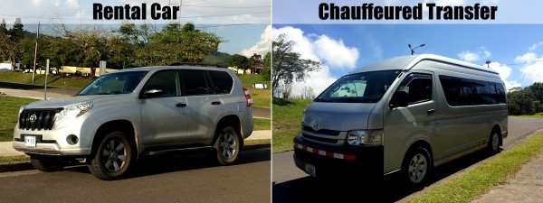 Rental car versus chauffeured transfers