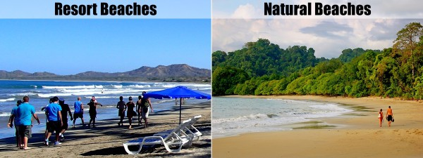 Resort beaches or natural beaches?