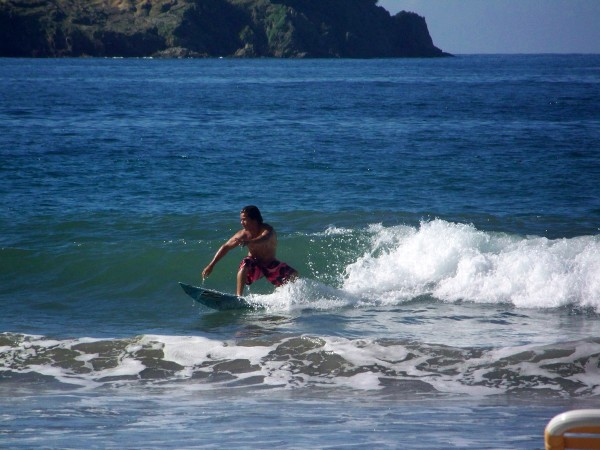 Surfing at Manuel Antonio